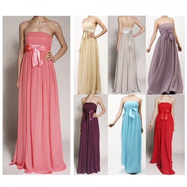 Abendkleid A051 mehrfarbig