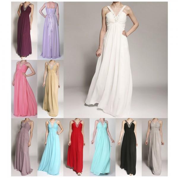 Abendkleid A053 mehrfarbig