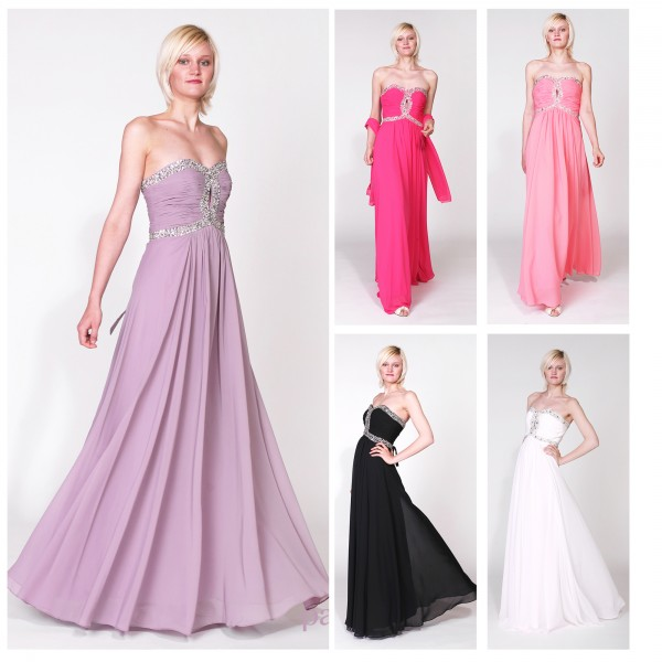 Abendkleid A057 mehrfarbig