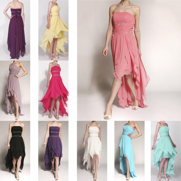 Abendkleid A081 mehrfarbig